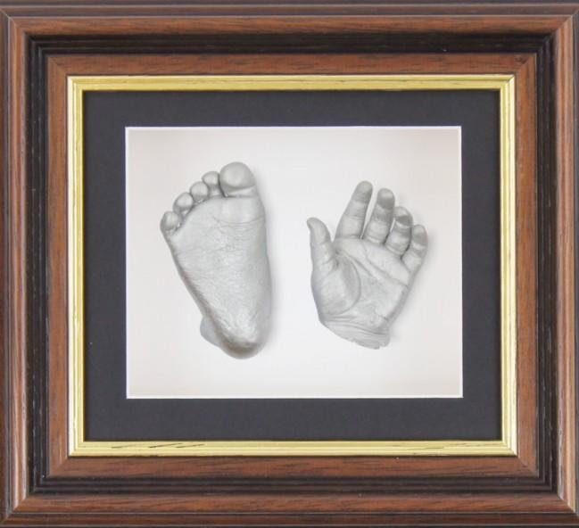 Baby Casting Kit Mahogany Gold Trim Frame Silver paint
