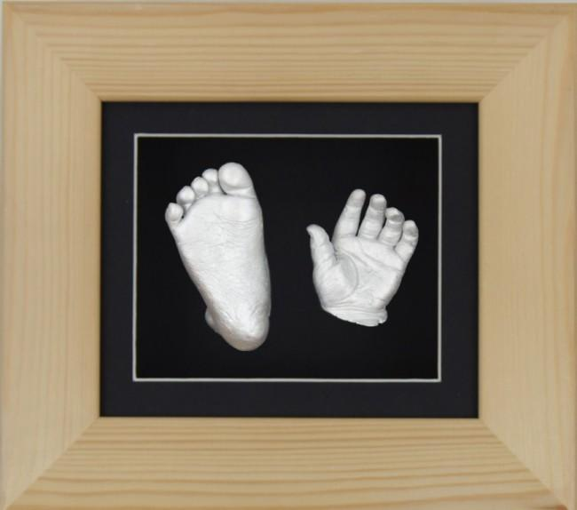 Baby Casting Kit Natural Pine Frame Black Display Silver paint