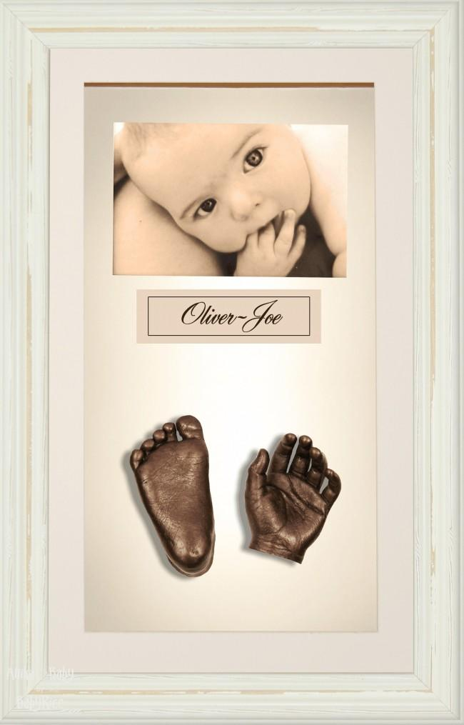 Large or Twins Baby Casting Kit / Shabby Chic Frame / Bronze Casts