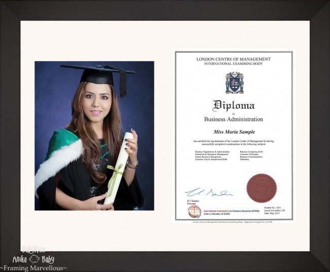 Large Black Wooden Frame A4 10x8 Photo Picture Certificate Graduation Diploma Wedding-Ivory