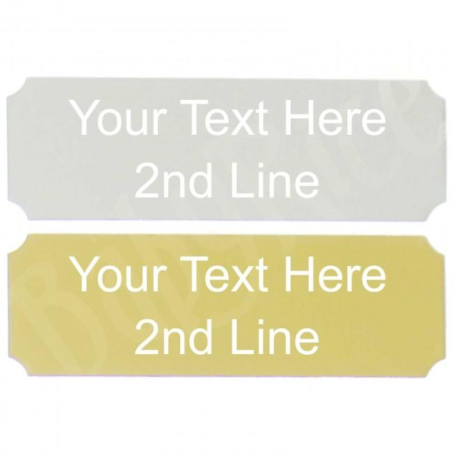 Silver or Gold Rectangle Plaque – Choose Size and Personalised Engraving