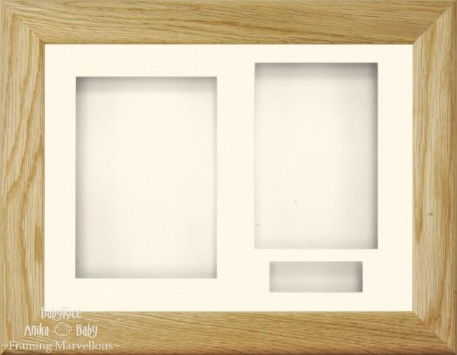 Solid Oak 3D Frame Cream 3 hole mount & Backing - BabyRice