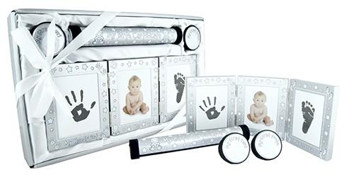 Baby Keepsake 4 Piece Gift Set - Brushed Silver