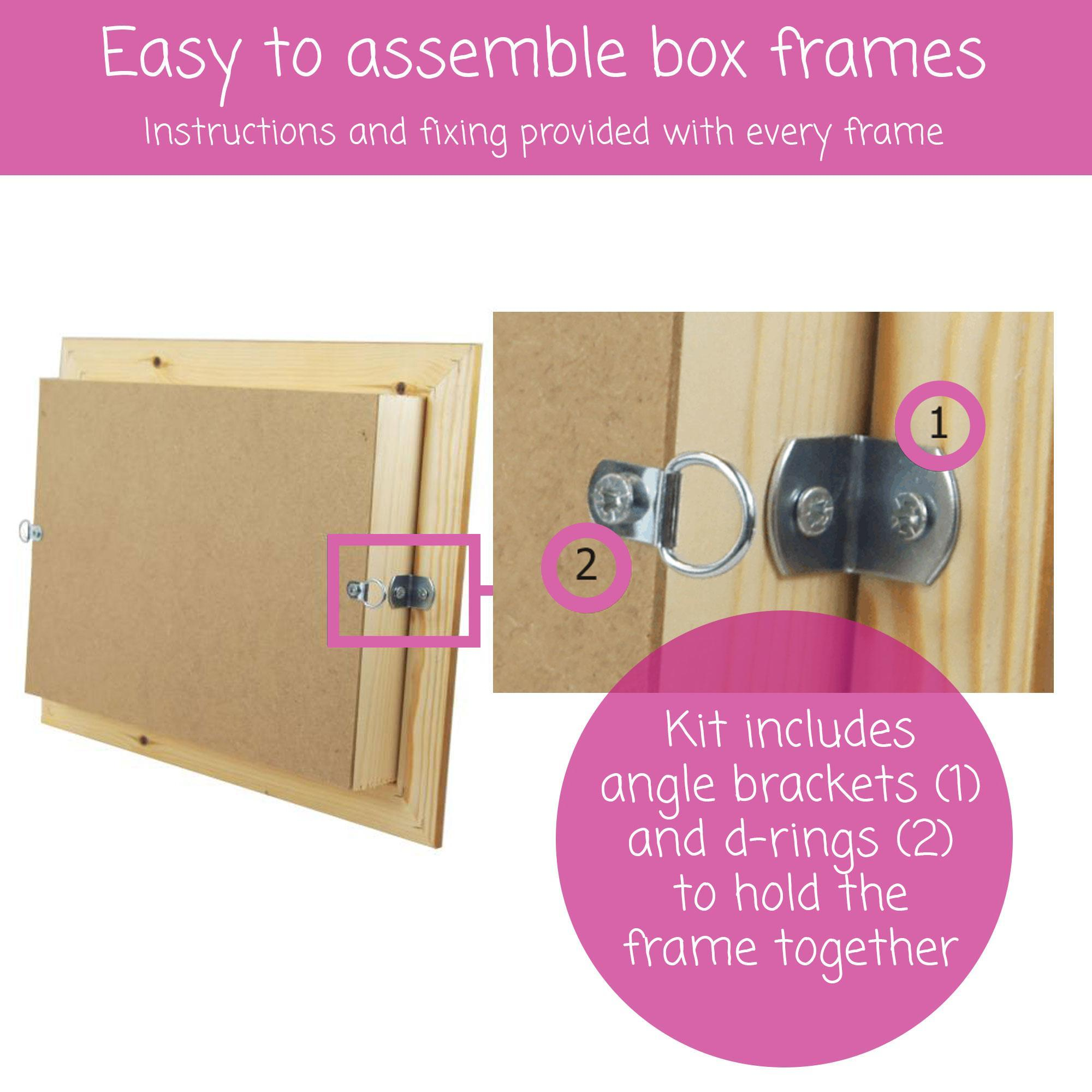 Example of the rear of the box frame