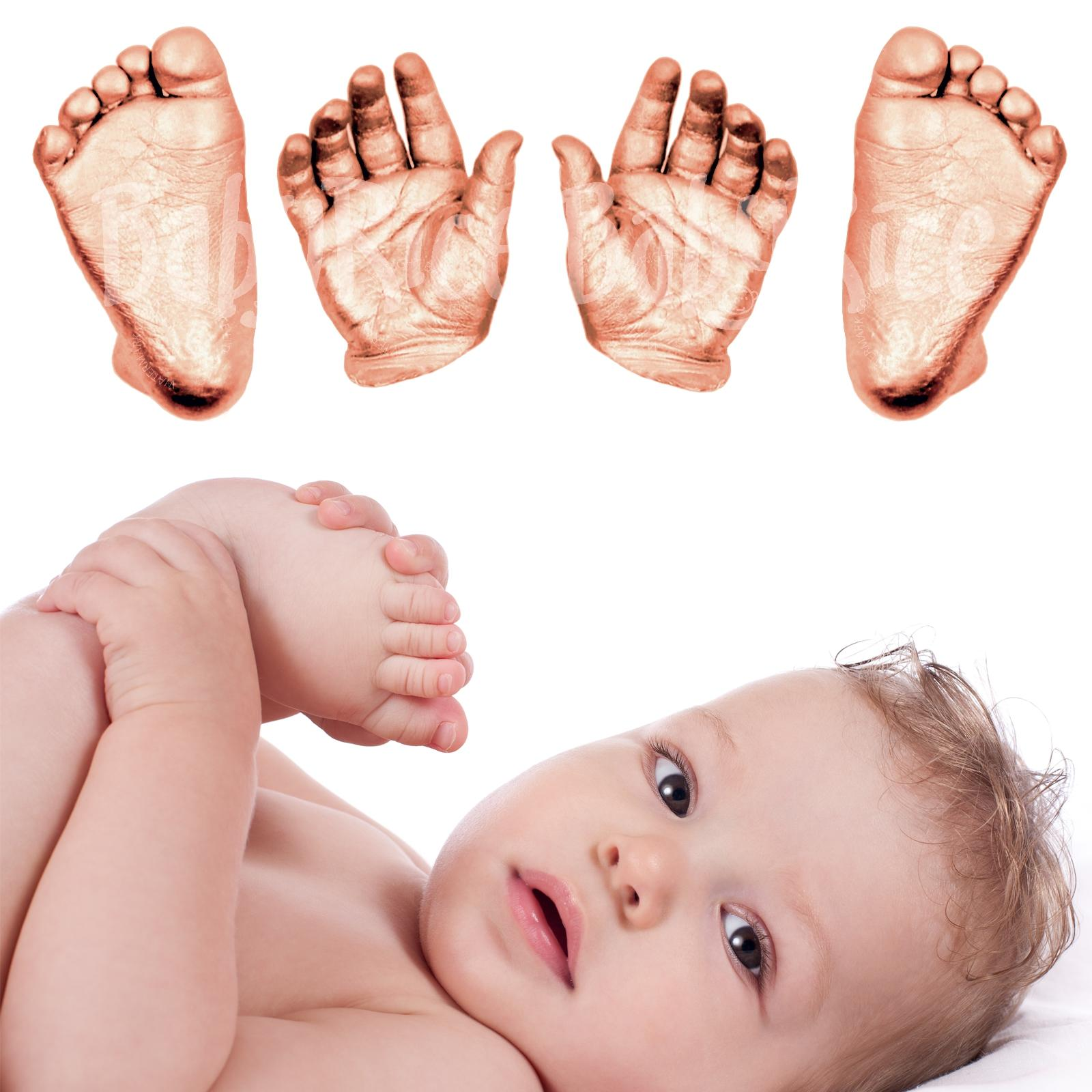 Baby 3d hands and feet Casting Kit Copper paint
