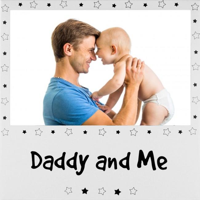 "Daddy and Me Photo Picture Frame Silver for 6x4"" Photograph"