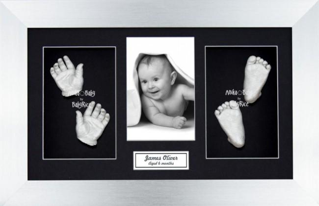 Unique New Baby Silver Christening Gift, DIY 3D Hands & Foot Casting
