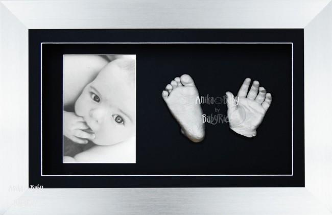Stunning New Baby Silver Christening Gift, DIY 3D Hands & Foot Casting
