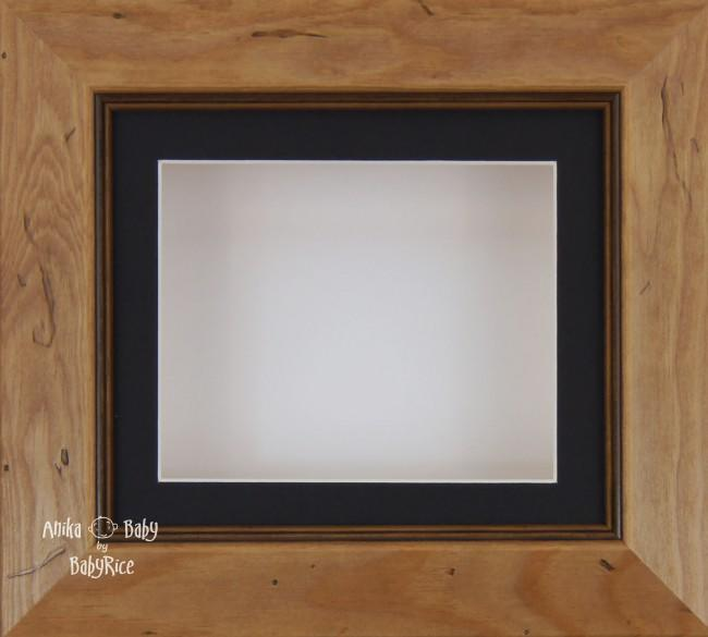 Rustic effect Small Display Frame / Black mount & White backing card
