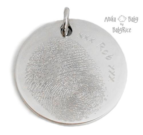 Large Stainless Steel Circle Fingerprint