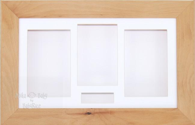 Large Real Beech Wooden 3D Shadow Box Display Frame / White
