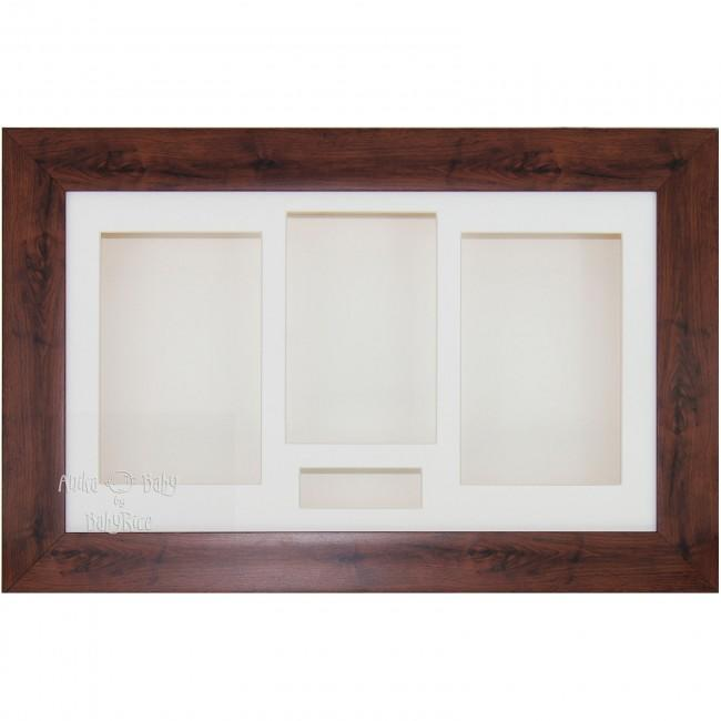 "15x9"" Mahogany Effect 3D Shadow Box Display Frame"