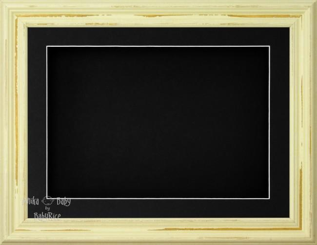 "11.5x8.5"" Shabby Chic 3D Display Frame 1 Hole Black Mount Black Back"