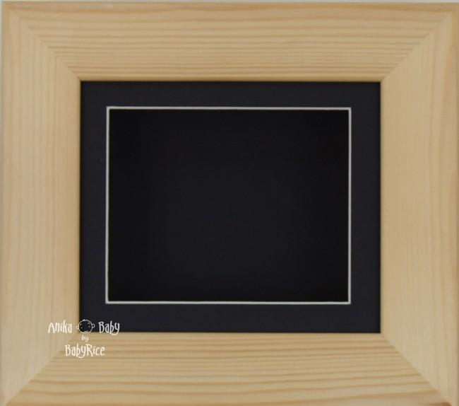 Natural Pine Small Display Frame / Black mount & backing card