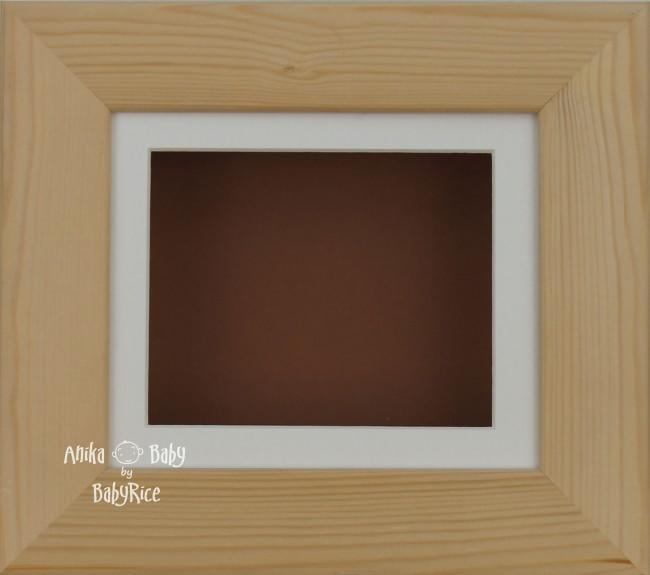 Natural Pine Small Display Frame / Cream mount & Brown backing card