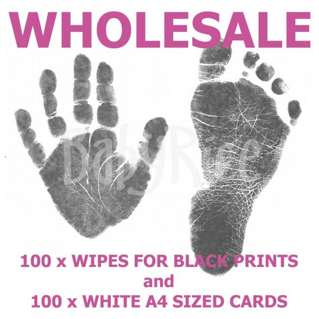 Inkless Wipe Kits Wholesale x100 wipes x100 White cards.
