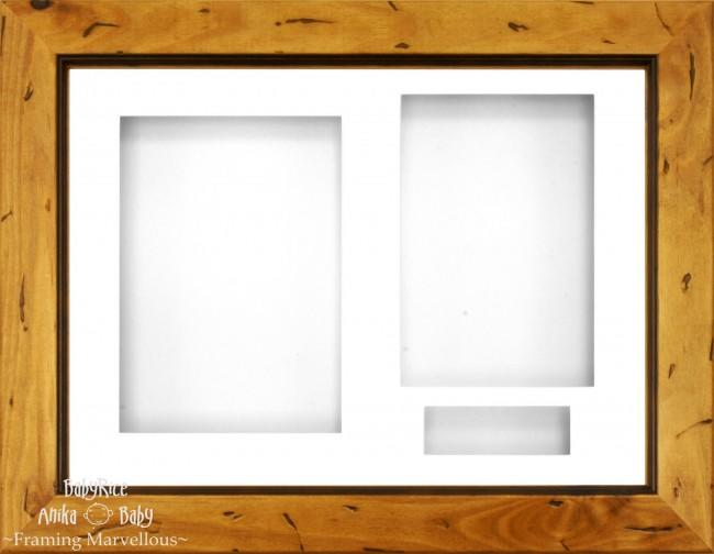 "11.5x8.5"" Rustic Pine Wood 3D Display Box Frame White"