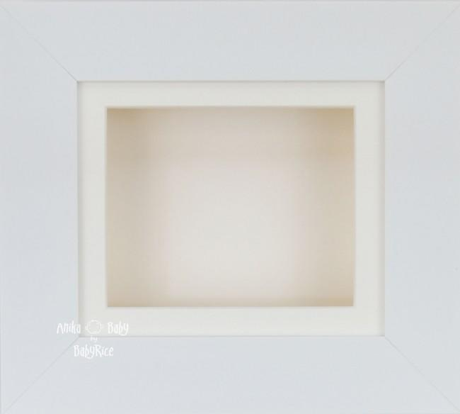 White Small Display Frame / Cream mount & backing card