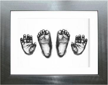 Large Big Older Baby Casting Kit, Pewter effect Frame Casts