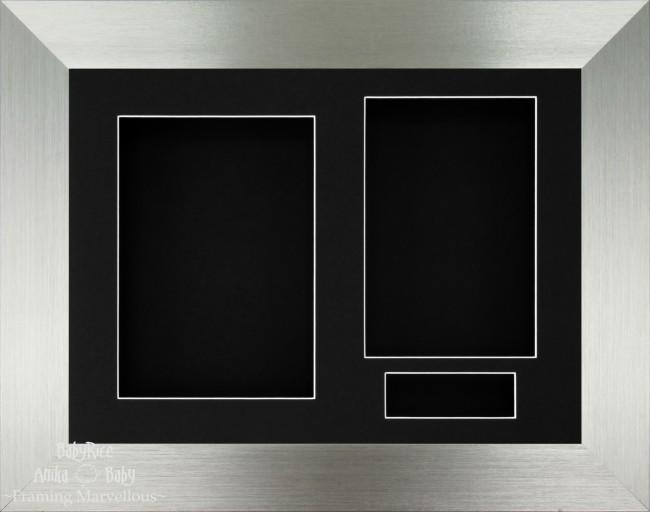 Brushed Pewter 3D Display Box Frame Black