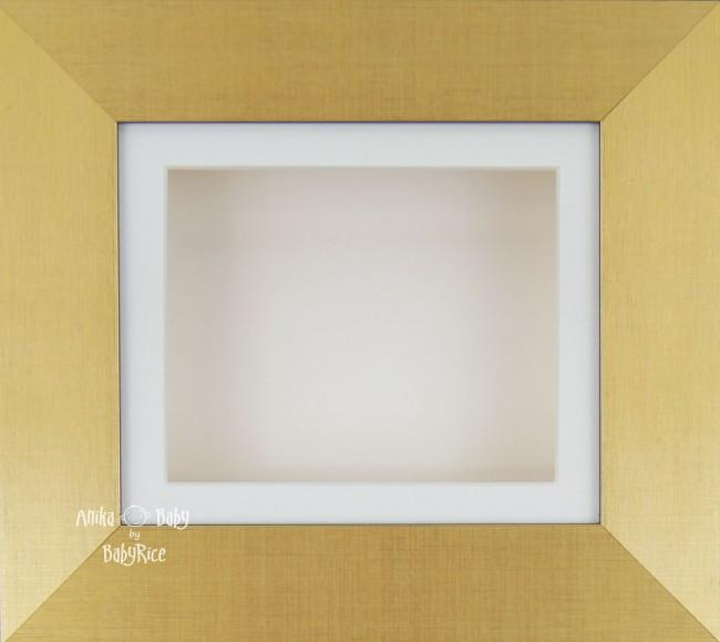 "6x5"" Brushed Gold display frame / Cream mount & Backing"