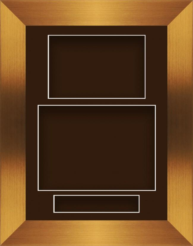 11.5x8.5 Bronze Deep Box Display Frame Brown Portrait