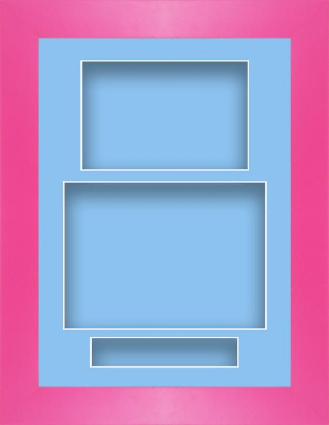11.5x8.5 Pink Deep Box Display Frame Blue Portrait