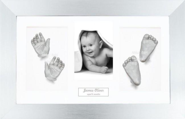 Unique New Baby Christening Gift, DIY 3D Hands & Foot Silver Casting