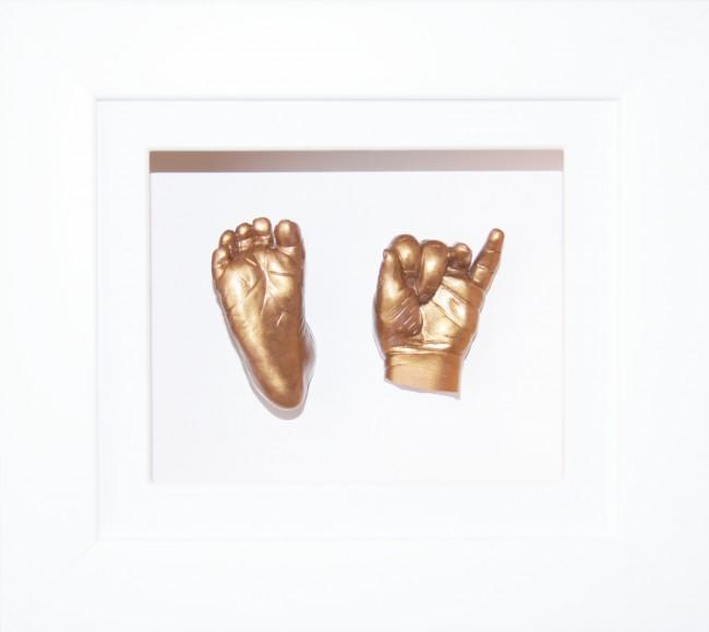 Baby Casting Kit White Frame Gold Metallic Paint