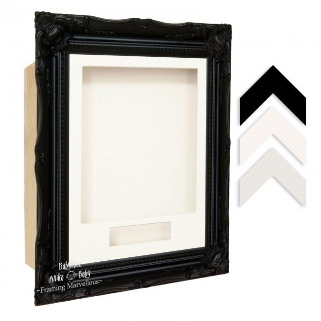 Black Rococo Ornate Frame - Choose Size, Depth, Mount and Backing Card Colour