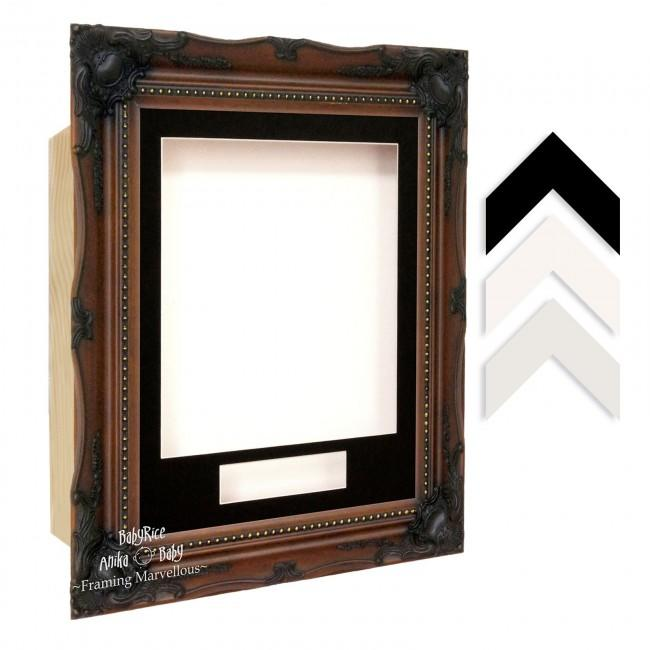 Walnut Dark Brown Ornate Rococo Box Display Frame