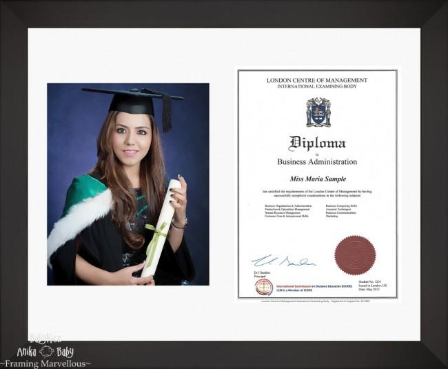 Large Black Wooden Frame A4 10x8 Photo Picture Certificate Graduation Diploma Wedding-White