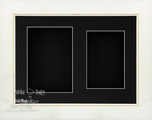 "11.5x8.5"" White Wash 3D Shadow Deep Box Frame Black 2 Mount"