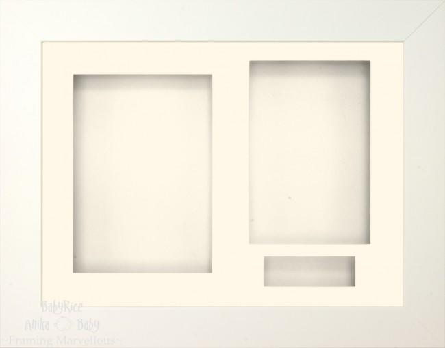 White 3D Display Box Frame Cream