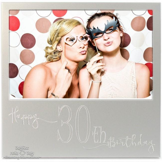 New Engraved Silver 30th Birthday Photo Frame