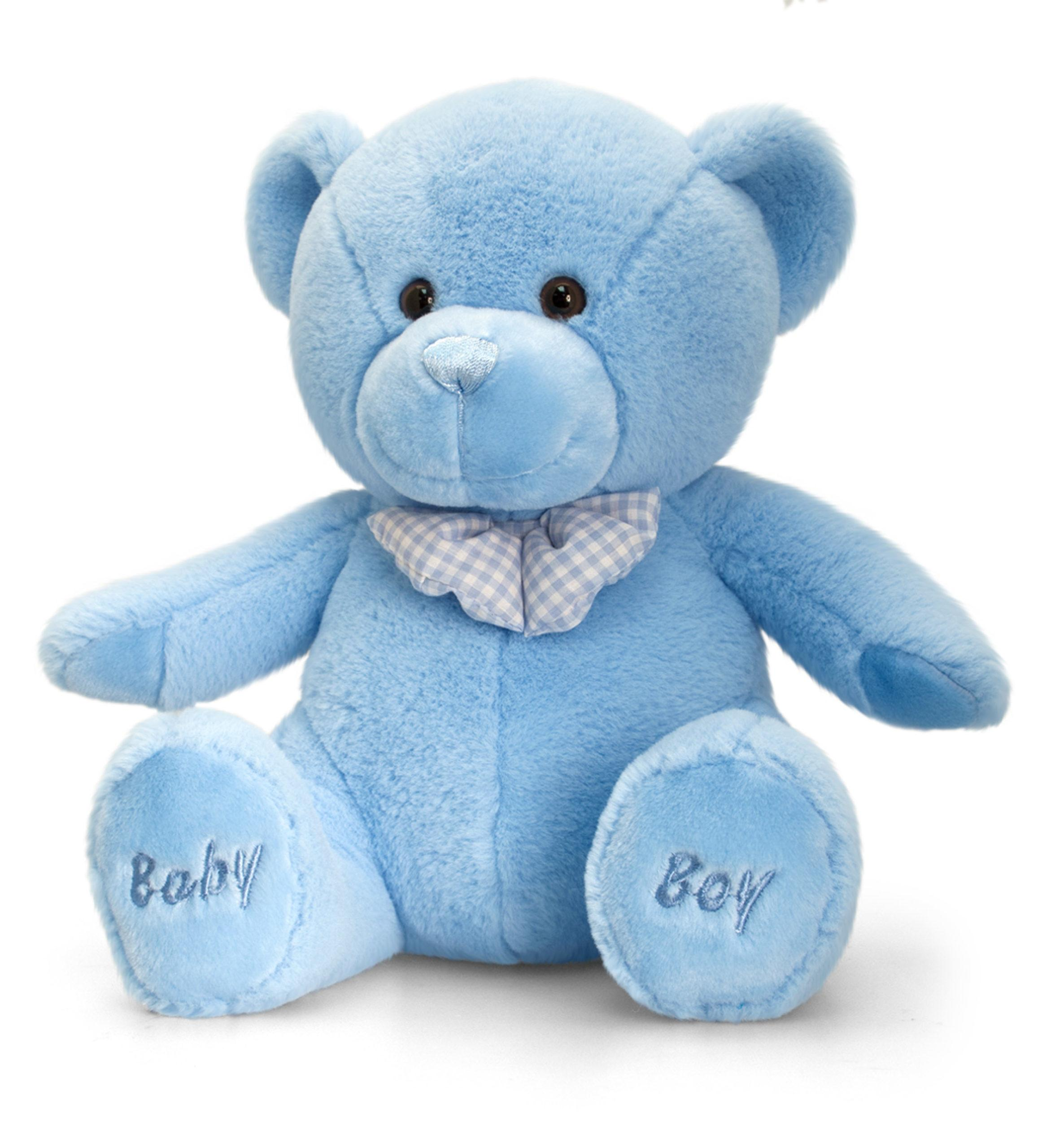 Soft Blue Teddy Bear - Baby Boy