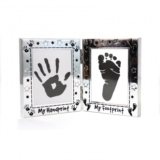 Baby Handprint Footprint Kit and Silver Frame