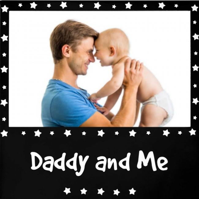 "Daddy and Me Photo Picture Frame Black for 6x4"" Photograph"