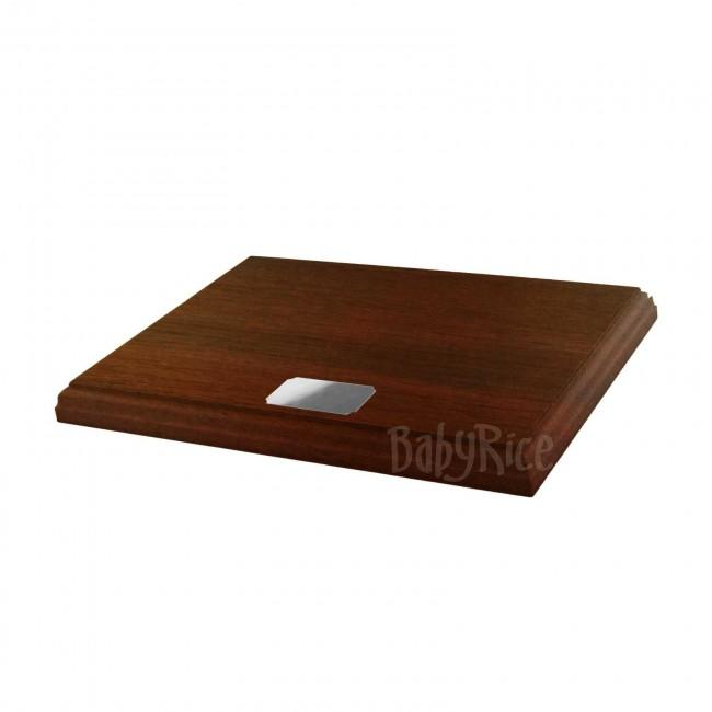 Mahogany Display Plinth 8x6'' & Blank Silver Plaque