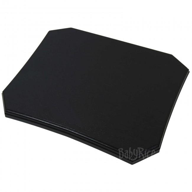 Black Display Plinth, Large 10x12'' no plaque - curved side