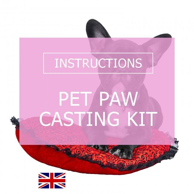 BabyRice Pet Paw Casting Instructions
