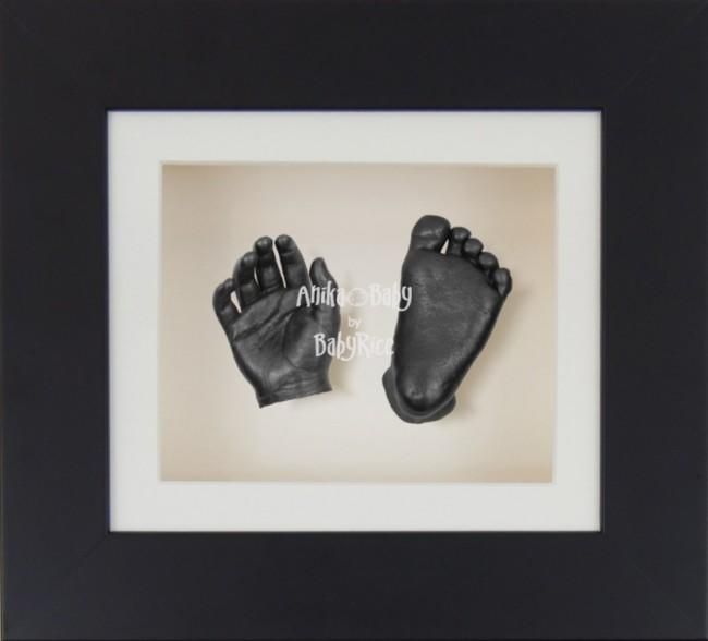 Baby Casting Kit Black Frame Cream Display Pewter paint