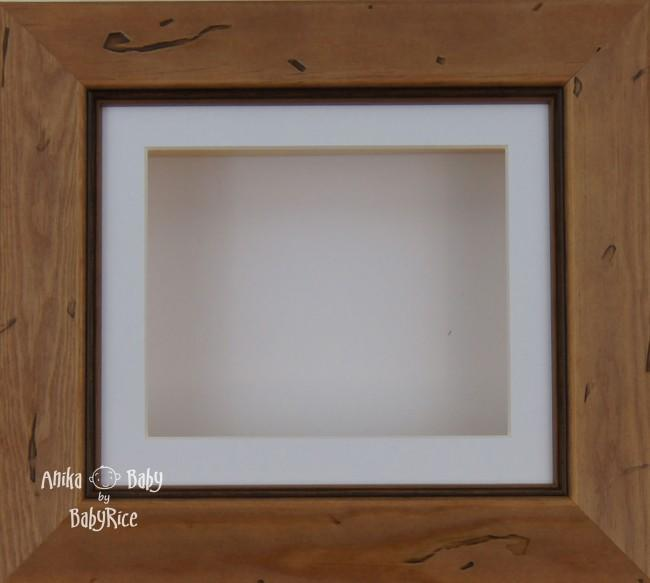 Rustic effect Small Display Frame / White mount & backing card