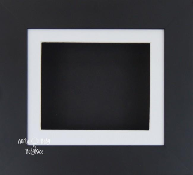 Black Small Display Frame / White mount & Black backing card