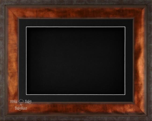 "12x9"" Urban Bronze 3D Display Frame 1 Hole Black Mount Black Back"
