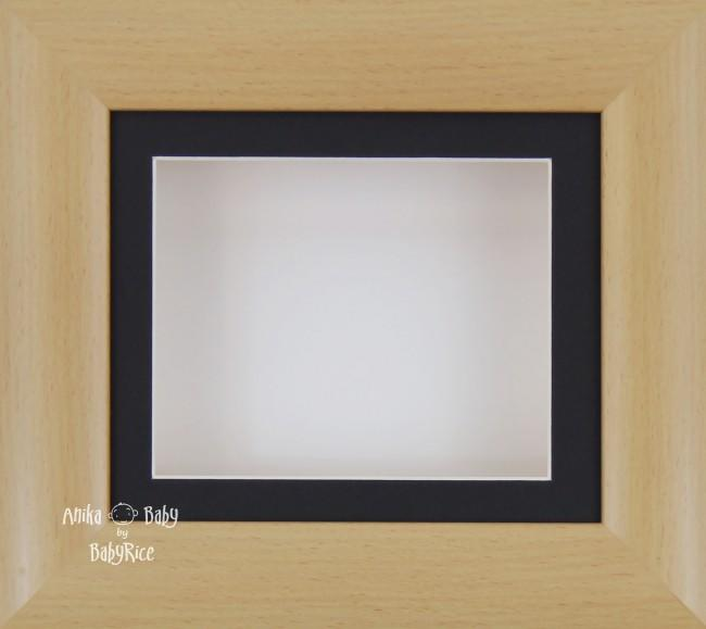 "6x5"" Beech Effect display frame / Black mount & White Backing"