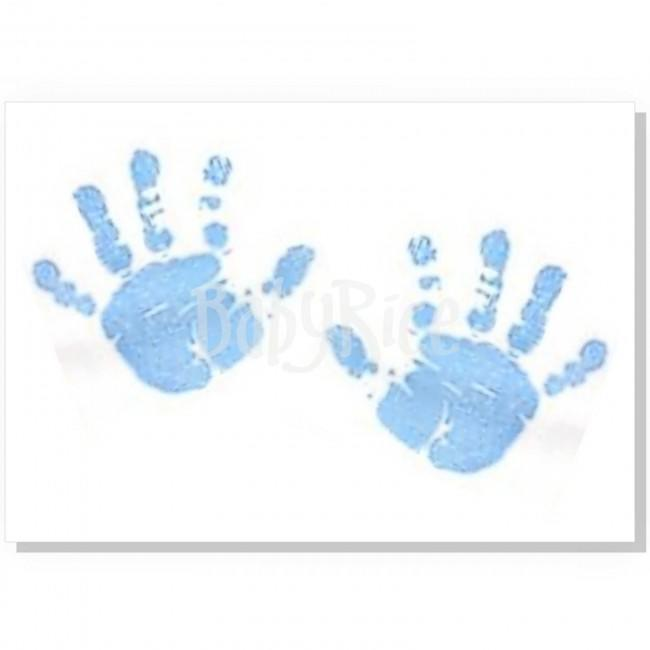 Canvas With Blue Baby Paint Wipe / Swab