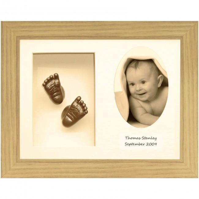 Baby Casting Kit, Oak effect Frame, Cream 3-O, Bronze
