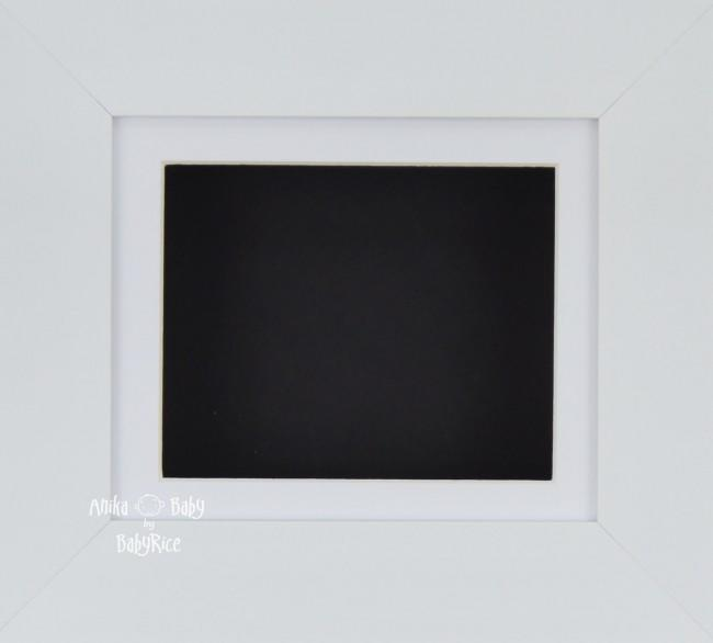 "6x5"" Deep Box Display Frame in White with White Mount and Black Backing"