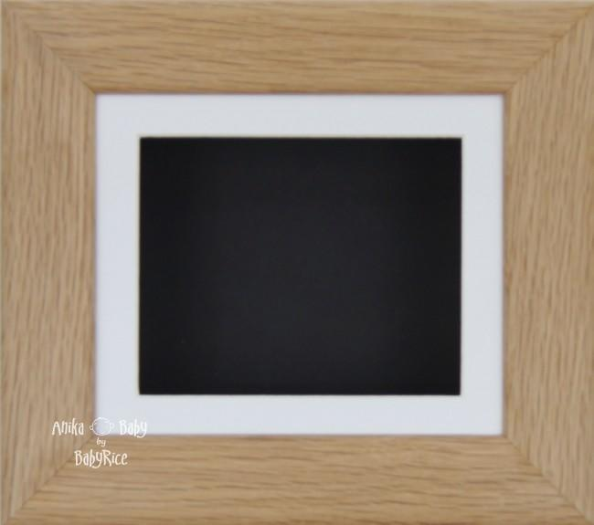 Solid Oak Wooden Shadow Box Display Frame / White & Black